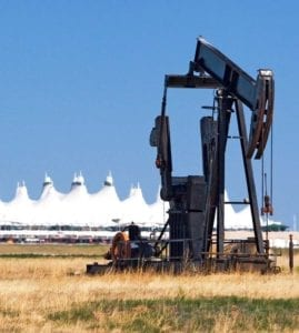 Well rig at Denver International Airport