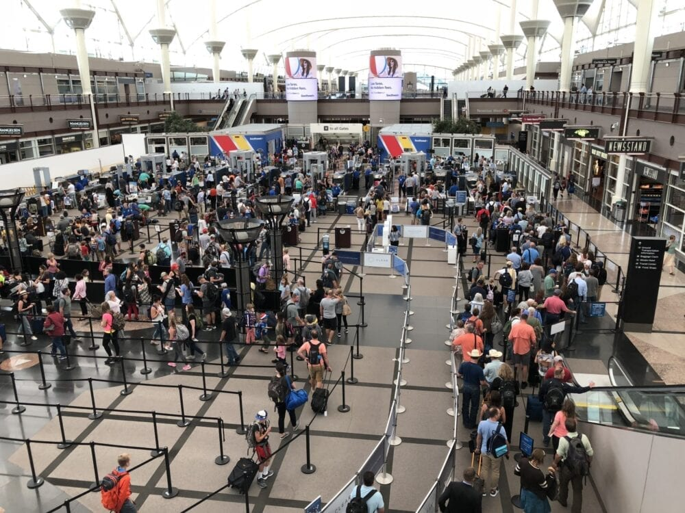 security lines at denver international airport