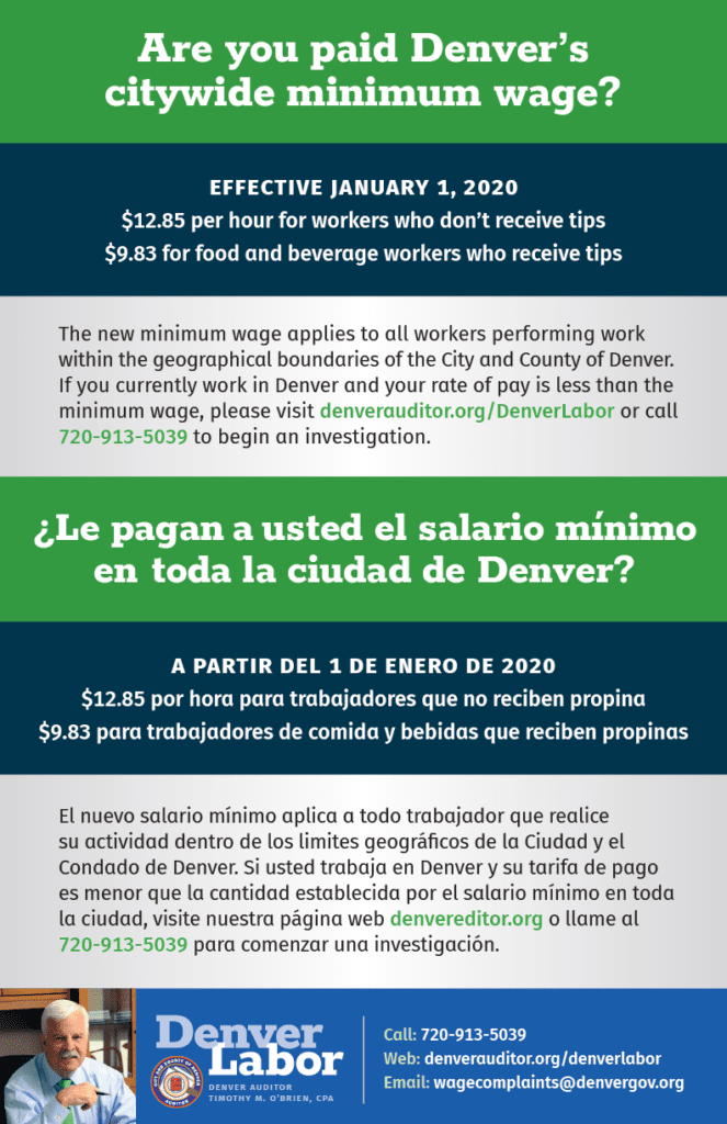 Citywide Minimum Wage Poster